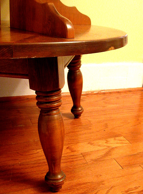 Odd table legs an odd table i bought for 30 at a second flickr for Table th odd