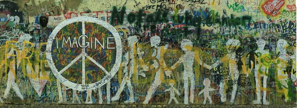 John Lennon Memorial Wall In Prague Gary Edenfield Flickr