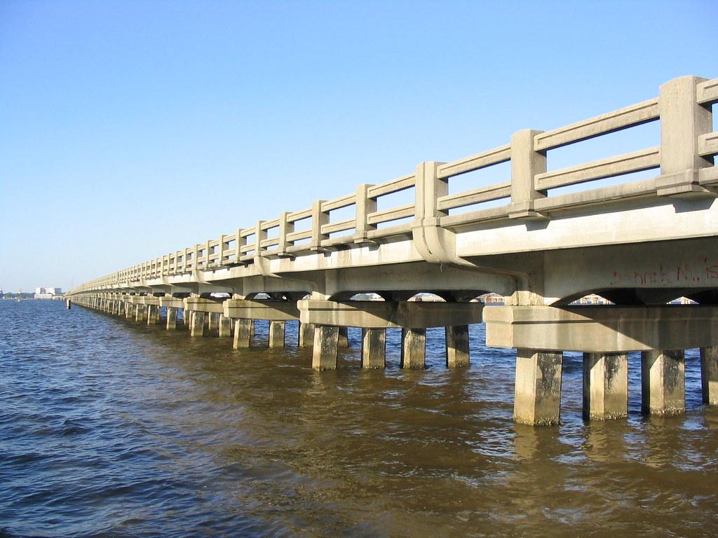 Biloxi Ocean Springs Bridge Old Us 90 Biloxi Mississippi
