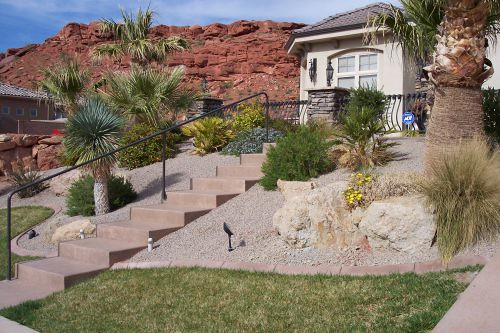 The house landscaping back yard - Landscaping A Hill Flickr Photo Sharing