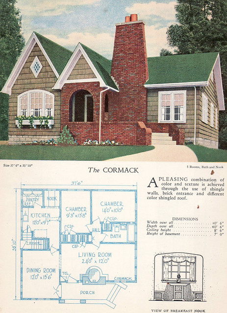 1928 home builders catalog the cormack from the for Columbia flooring melbourne ar