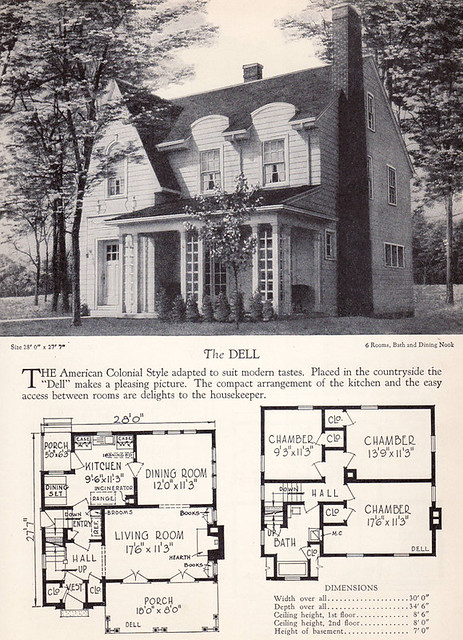 1928 Home Builders Catalog The Dell