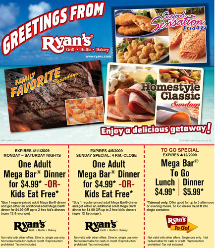 Sign up for restaurant coupons