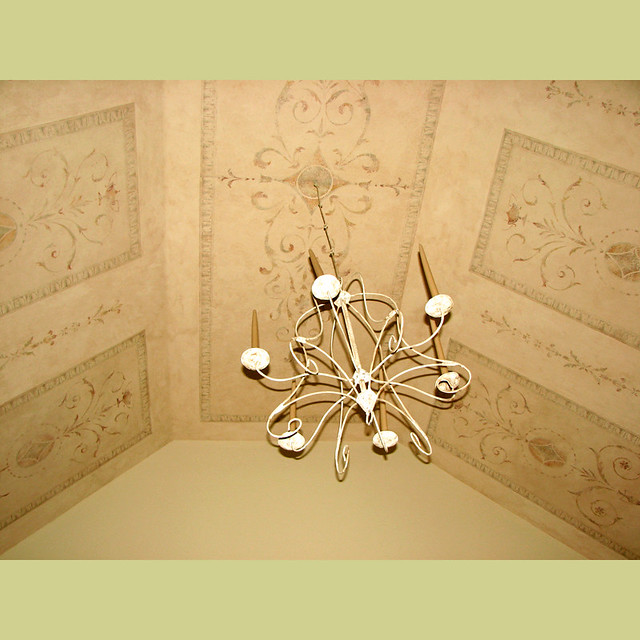 Elegant Stencil Panels on ceiling Wall and ceiling Stenci