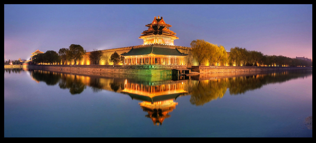 Forbidden City by Night | 3 stitched images of 3 HDR ...