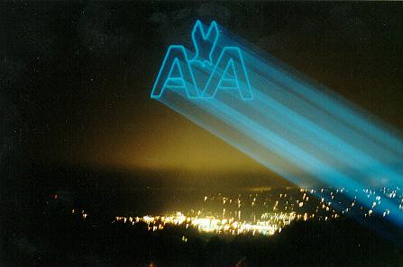 Los Angles Aerial High Power Laser Logo Projection and S