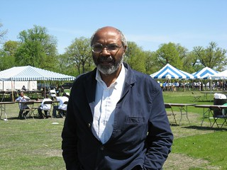 Abayomi Azikiwe, editor of the Pan-African News Wire, pictured at the Michigan Roundtable Festival on Belle Isle in Detroit during the summer of 2008. Azikiwe has written extensively on Pan-African and world affairs over the years. (Photo: Alan Pollock) | by Pan-African News Wire File Photos