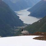 Lenka and the Fjærlandsfjorden