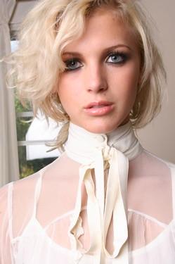 3 button high collar blouse   blous_o_mania   Flickr