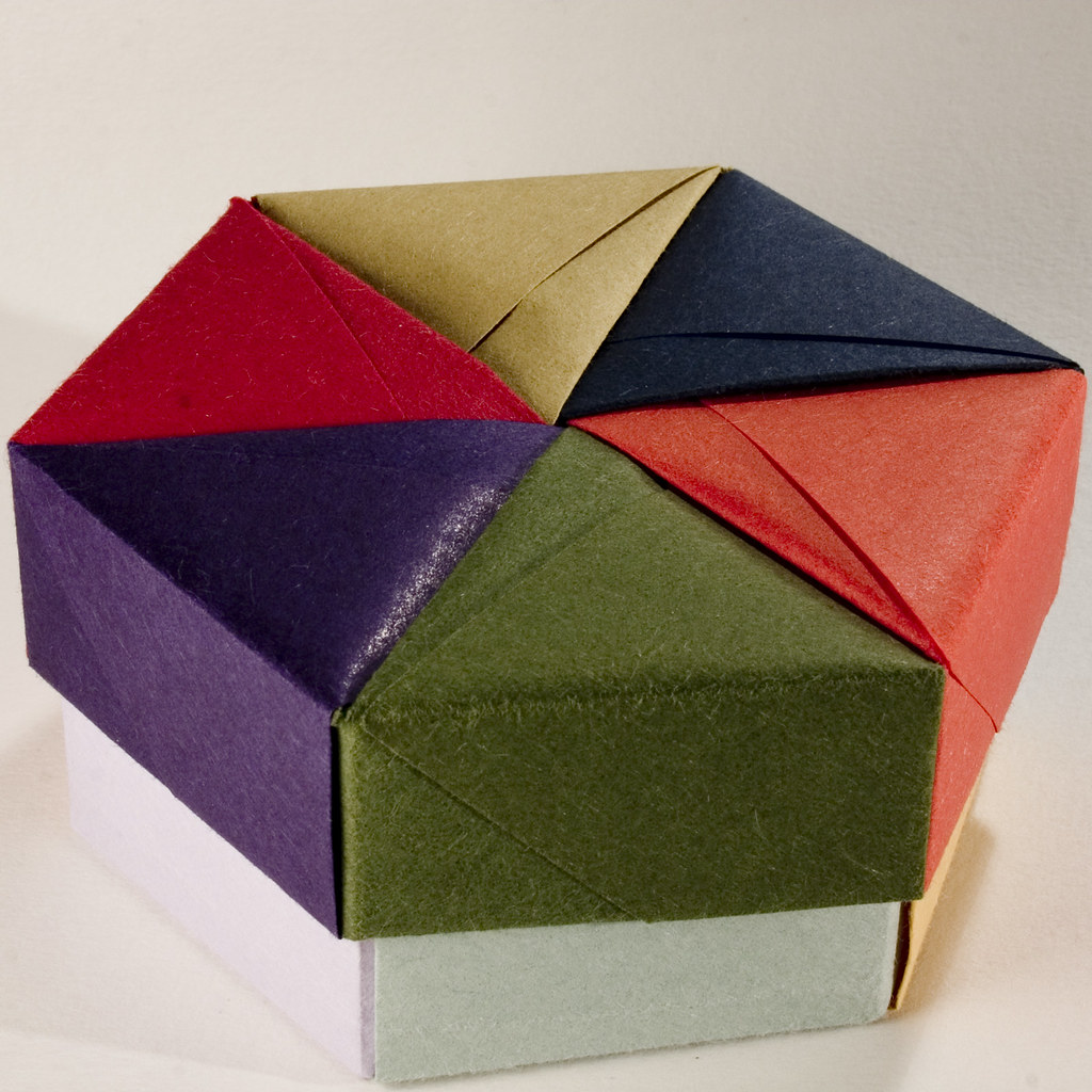 Decorative Hexagonal Origami Gift Box with Lid: # 05 | Flickr - photo#7