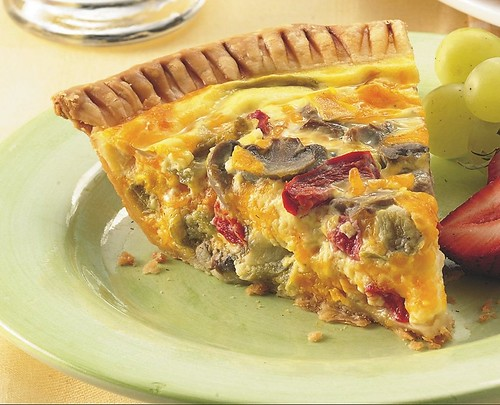 Vegetable-Cheddar Quiche Recipe | by Pillsbury.com