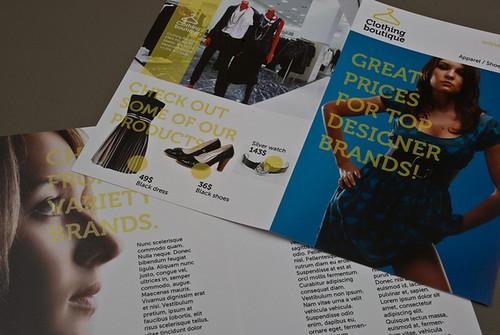 Clothing boutique brochure clothing boutique brochure for Brochure design for boutiques