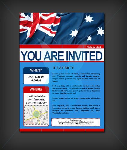 Australia Day - Invitation TEMPLATE