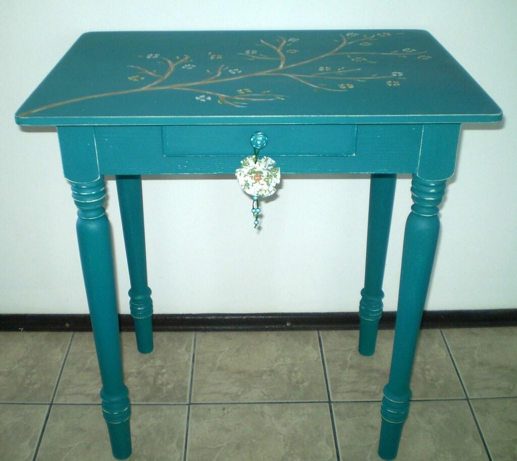 Artesanato Arame ~ Aparador Azul Turquesa (pátina provençal encerada) Flickr