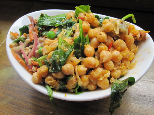 Barley and Chickpea Salad | by veganbackpacker