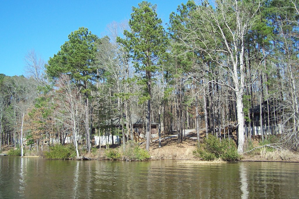 Jimmie Davis State Park View Of Cabins From Caney Lake