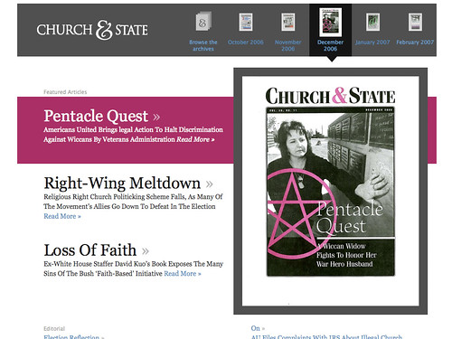 Church & State magazine issue page | by moronicbajebus
