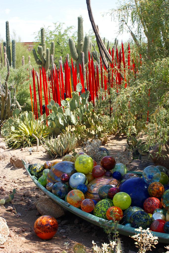 Chihuly Glass Sculptures At Desert Botanical Garden Flickr