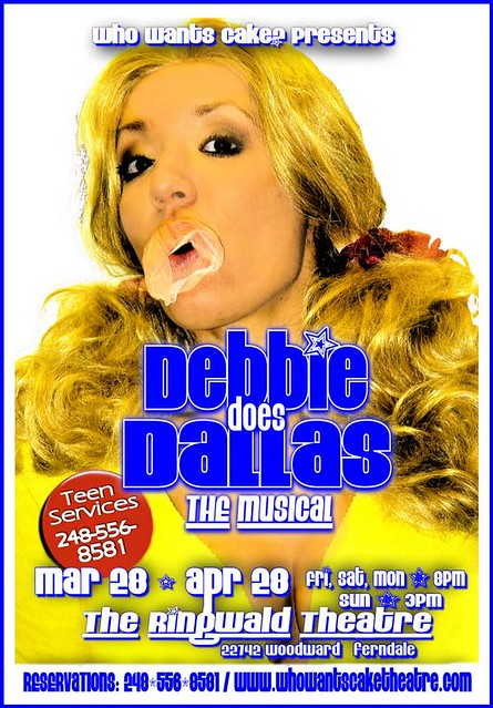 Debbie Does Dallas The Musical Poster  By The Ringwald Theatre