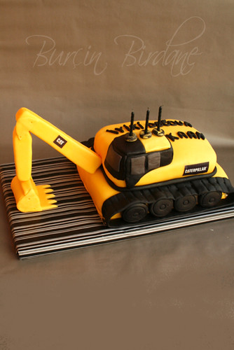 Excavator cake for Digger cake template