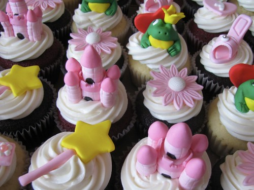 Pink Princess Birthday Cupcakes Chocolate Vanilla And