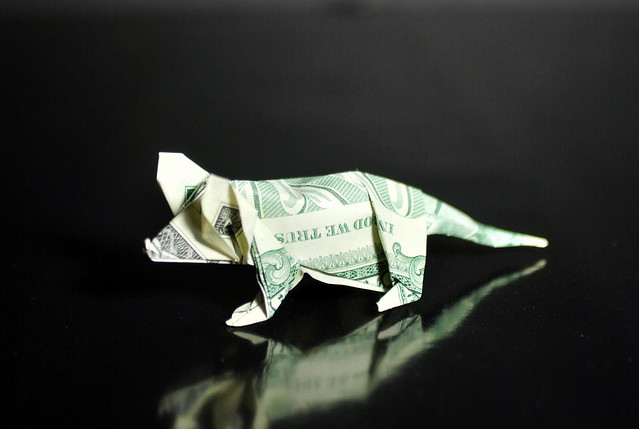 Dollar Origami Mouse | Money origami, Dollar origami, Dollar bill ... | 335x500
