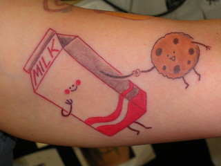 cookie loves milk tattoo | by sarah (goldstone) cloyd