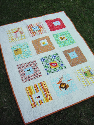 Square in Squares Gender Neutral Baby Quilt | by alissahcarlton