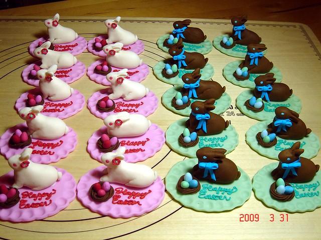 Fondant Bunny Cake Topper Australia