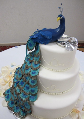 Wedding Cake Ideas With Peacock Feathers