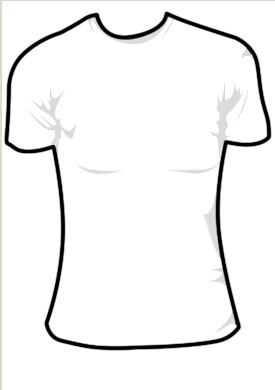 ladies black t shirt template - photo #36
