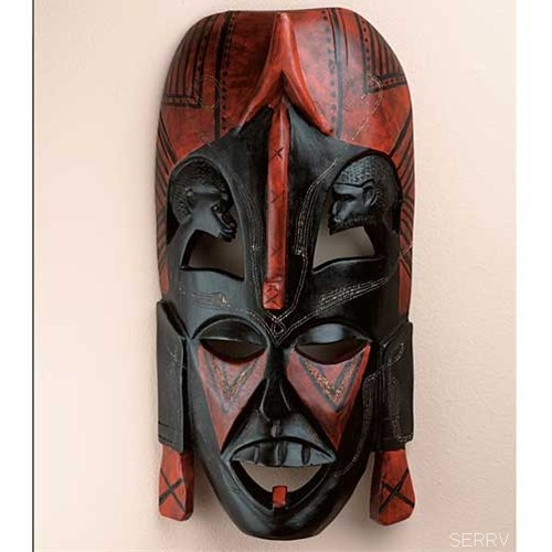 African Mask To Hang On Your Wall And Ward Off Evil Spirit