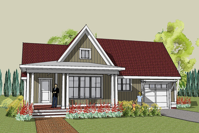Nice ... Hudson Cottage House Plan Exterior | By Brenner_ron Great Pictures