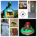 3rd Birthday Dinosaur Party collage