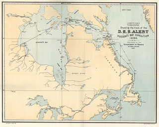 Chart Showing the Track of the D.S.S. Alert Hudson's Bay Expedition 1886 (1887) | by Manitoba Historical Maps