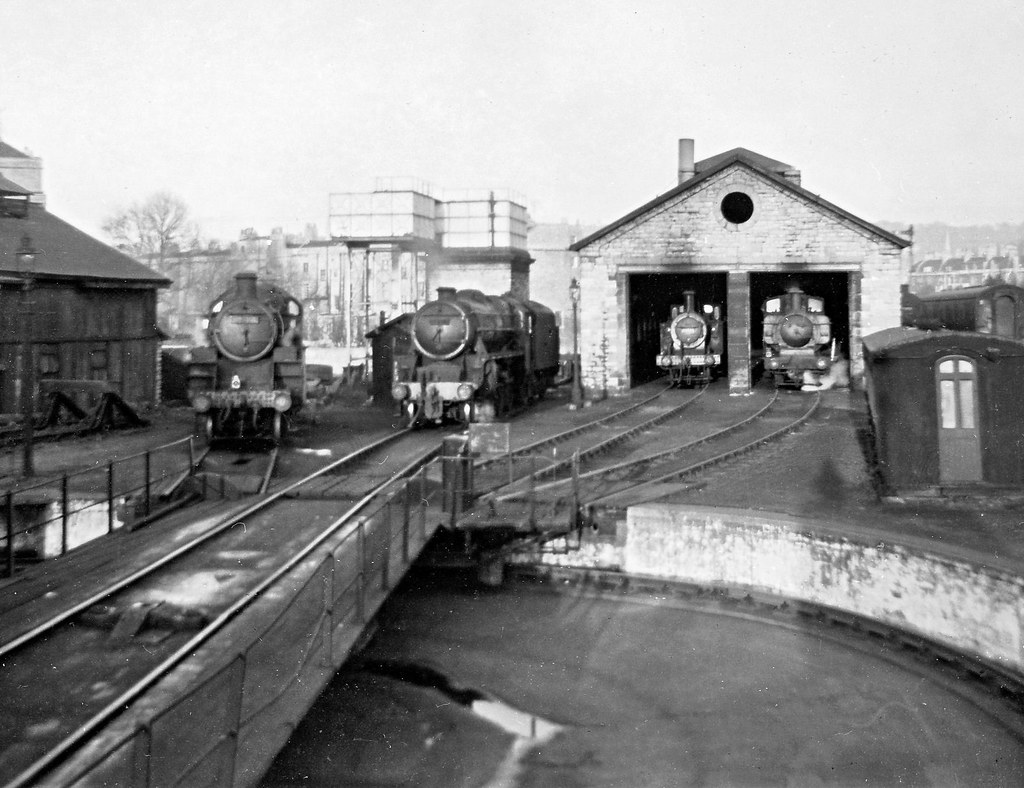 Bath Green Park Top Shed 1964 82004 45105 47308 3742