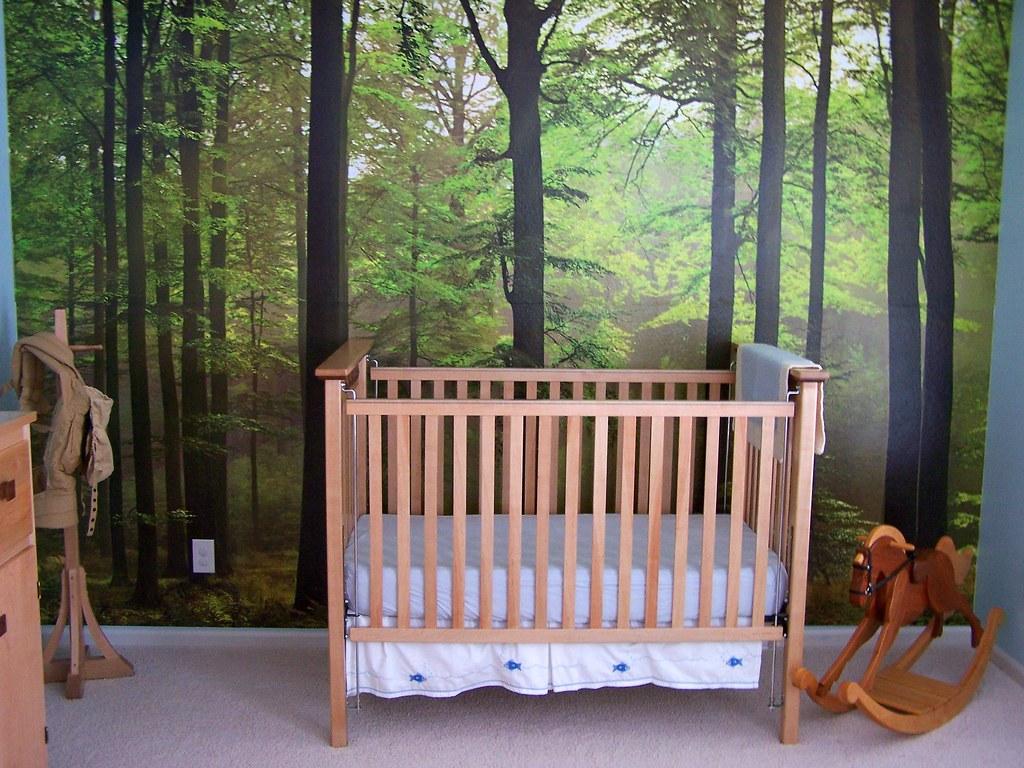 enchanted forest bedroom this weekend we put up an enchant…