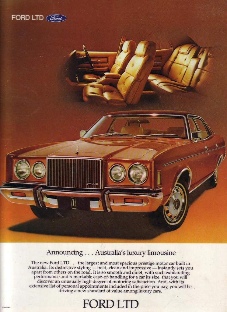 White Rolls Royce >> 1977 Ford LTD P6 Ad   LTD P6 with the Famous Rolls Royce Gri…   Flickr
