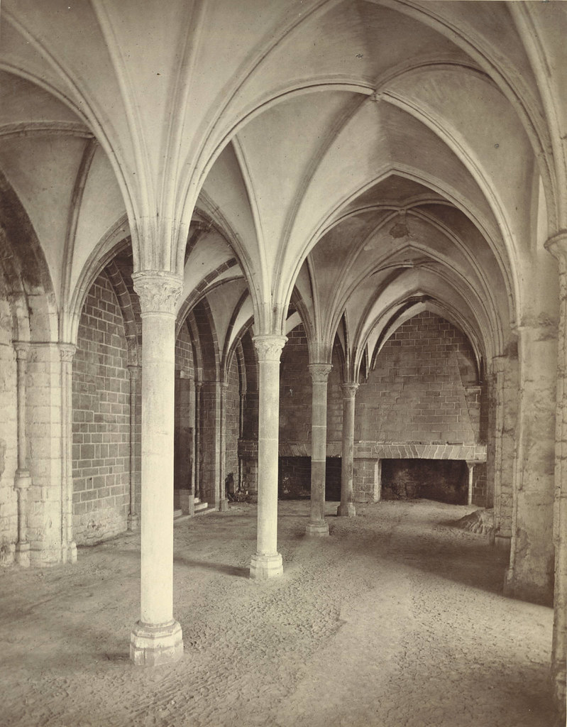 Mont Saint-Michel Abbey, The Marvel. Refectory (Interior