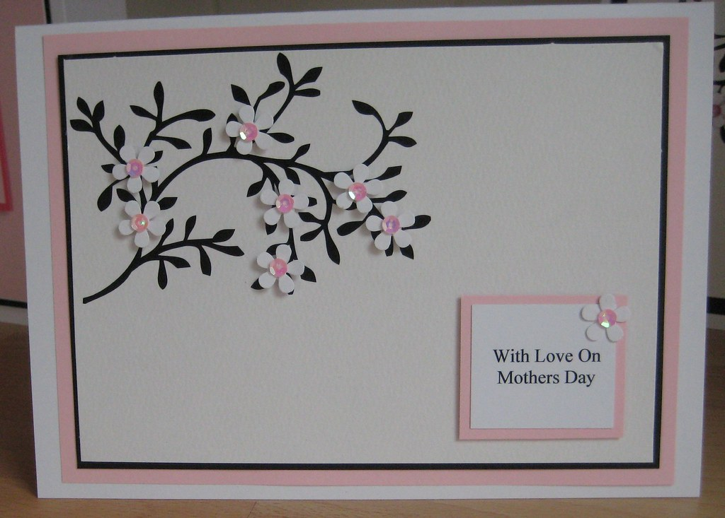 handmade mothers day card  a5 handmade mothers day card