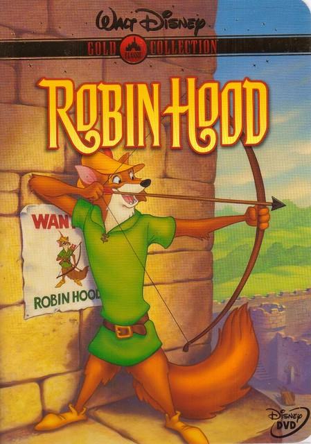 walt disney gold collection robin hood dvd cover art
