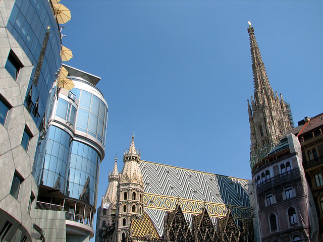 Haas-Haus and St Stephan's Cathedral