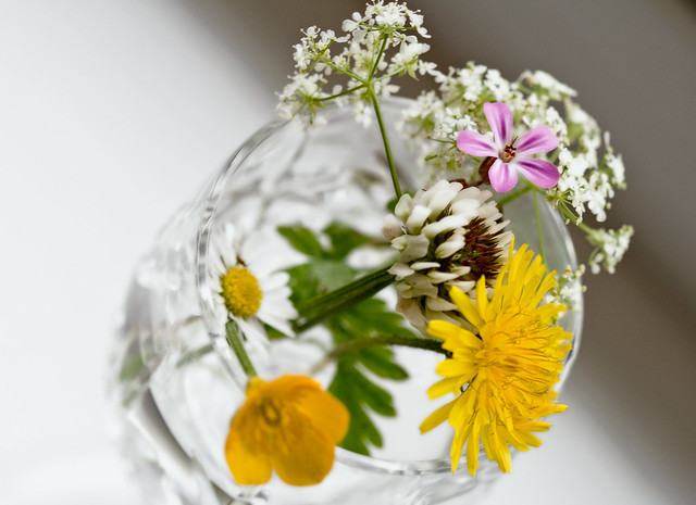 Cow Parsley Glass Candleholder