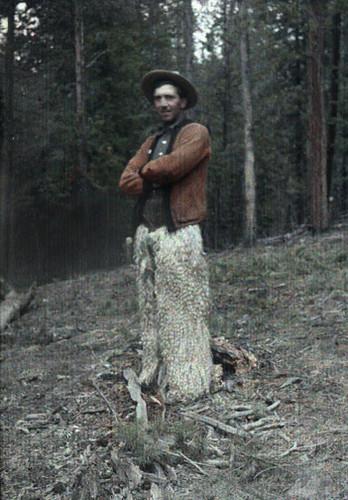 cowboy in fur chaps