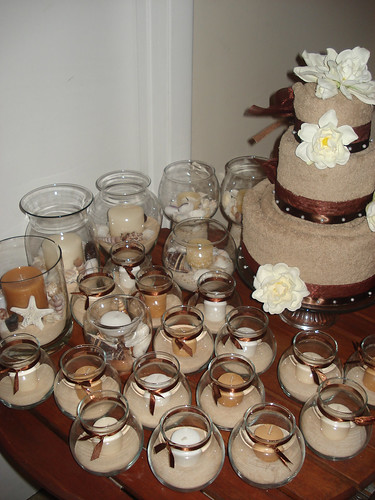 beach wedding cake candle favors bridal shower galore flickr photo 11172