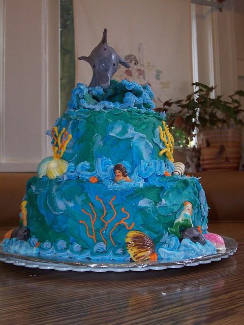 Dolphin Birthday Cake