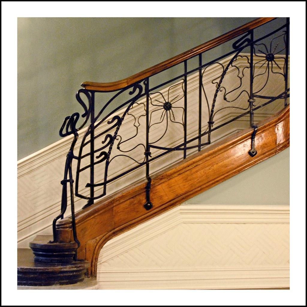 rampe de l 39 escalier de la casa montero bilbao cage d 39 esc flickr. Black Bedroom Furniture Sets. Home Design Ideas