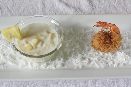 coconut shrimp with piña colada sauce | by Madison Bistro
