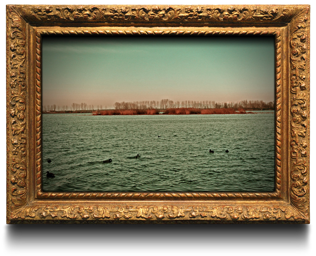 Photo in painting frame Composition made in Photoshop ...