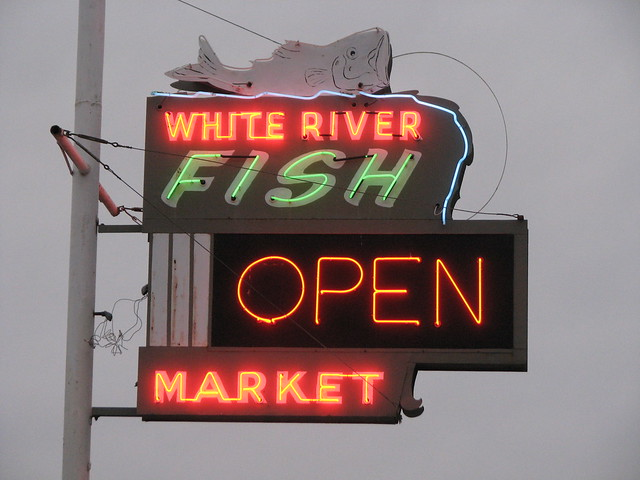 White river fish market neon sign flickr photo sharing for River fish market